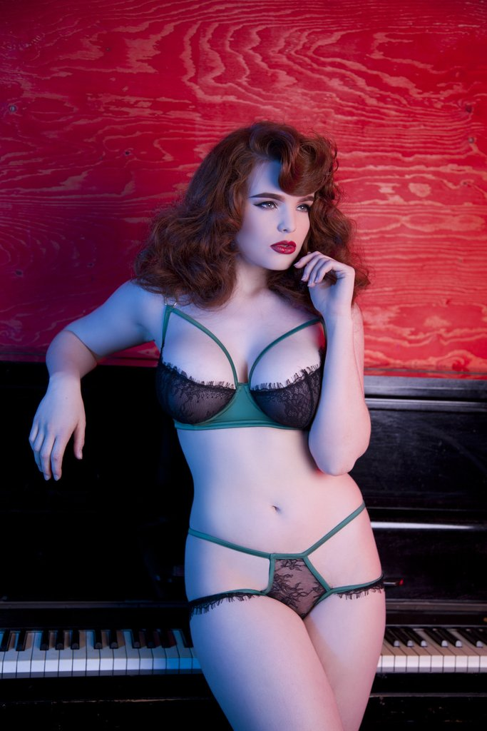 Playful Promises Tamara Forest Green Black Lace Bra.jpg